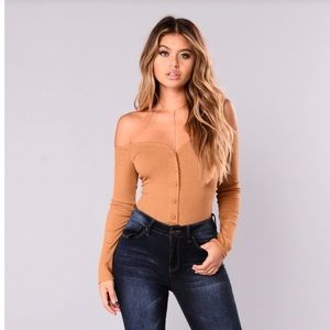 fool in love off shoulder bodysuit Fashion Nova XS